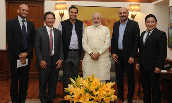 Sakal MD Abhijit Pawar apprises PM Narendra Modi on Delivering Change Foundation