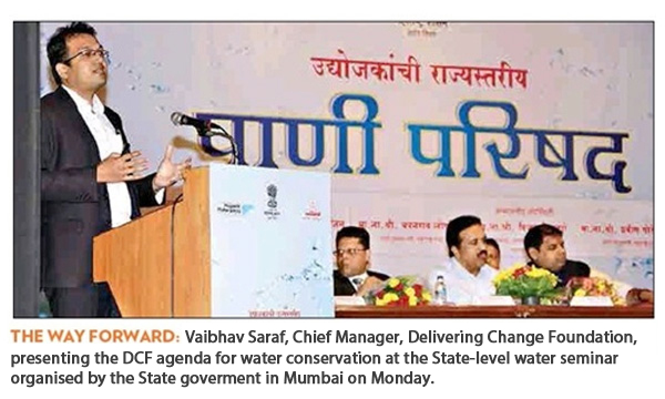 DCF suggests 4 R's for saving water